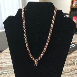 rose gold double rolo chain